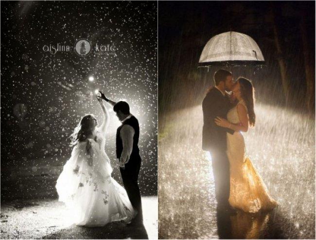 Дождь в день свадьбы - это не только хорошая примета для молодоженов, но и