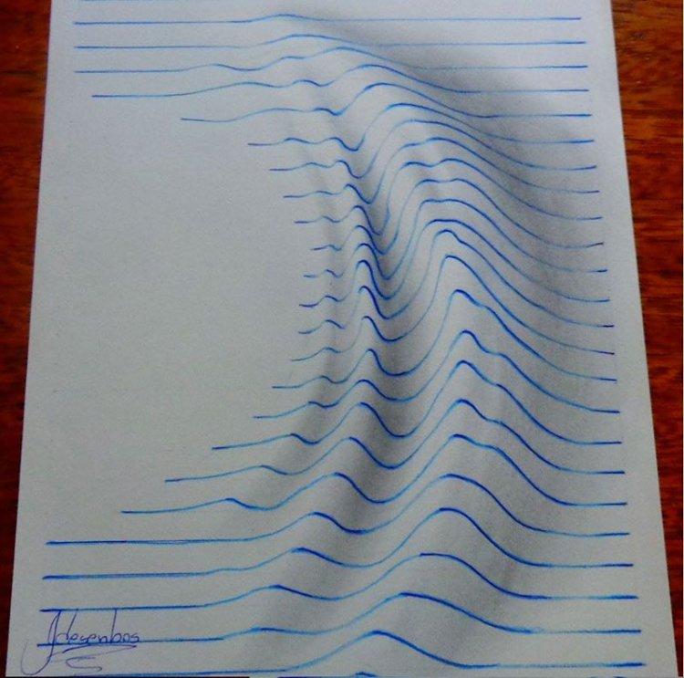 Рисунки на бумаге выпуклое на бумаге
