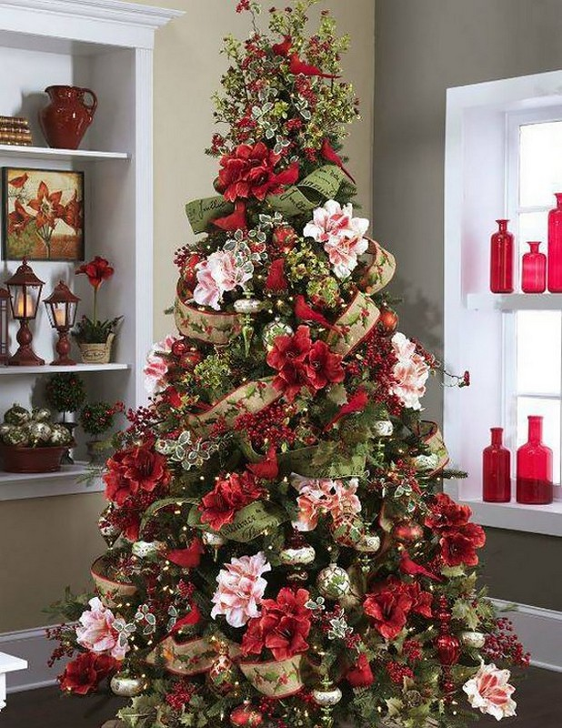 Цветы для елки своими руками