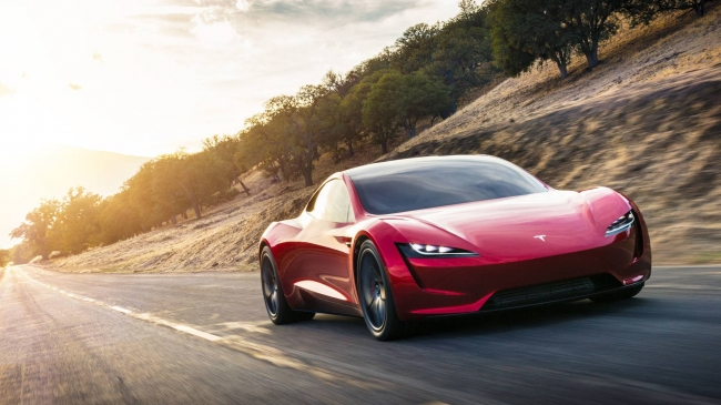 Демонстрация новой Теслы Маска 2020 Tesla Roadster 2 II Maximum Plaid Mode  ...